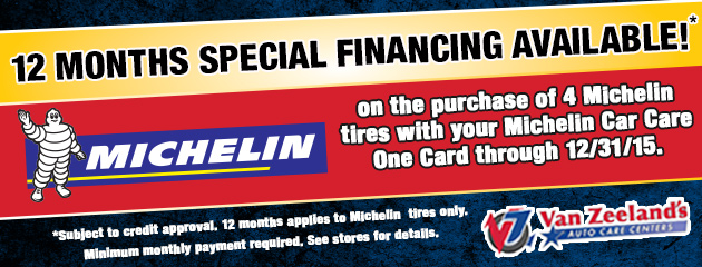 Michelin Special Financing Available