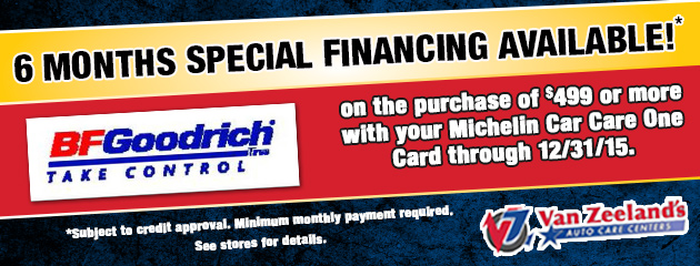 BFGoodrich Special Financing Available