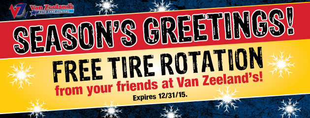 Seasons Greetings! - Receive a Free Tire Rotation