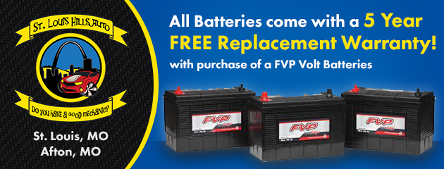 5 Year Free Replacement Warranty with your FVP Battery purchase