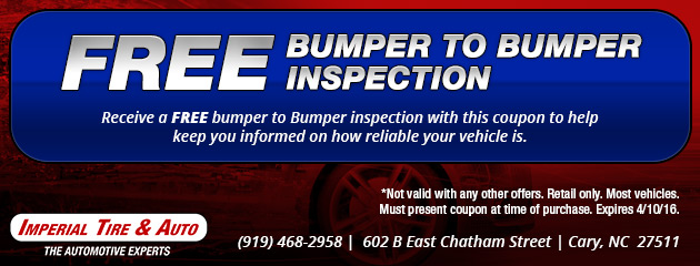 Free Bumper to Bumper Inspection