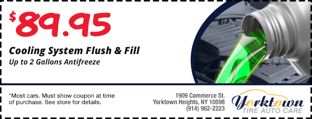 Cooling system flush and fill $89.95
