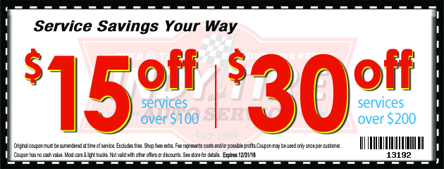 Save up to $30 Off on services over $200