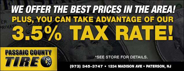 Passaic County Tire Tax Rate