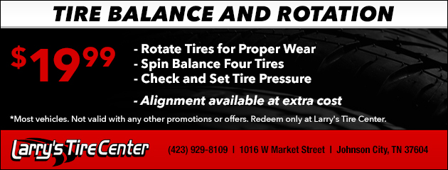 Tire Balance and Rotation Special