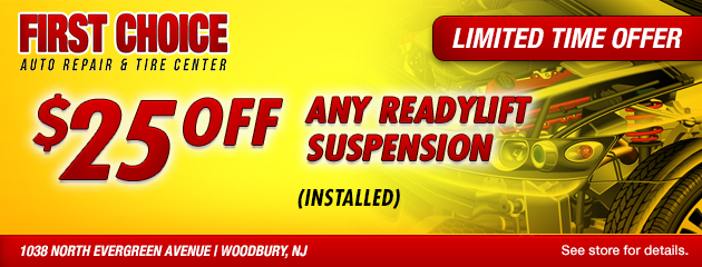 $25 Off any ReadyLift Suspension (Installed)