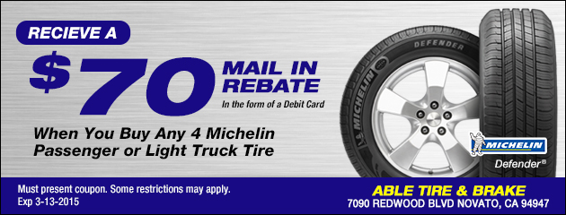 Michelin Tire Rebate