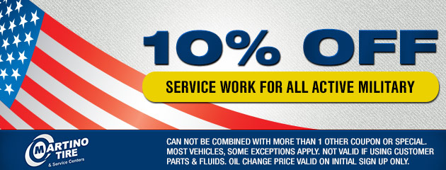 10% Off Service Work for All Active Military Coupon