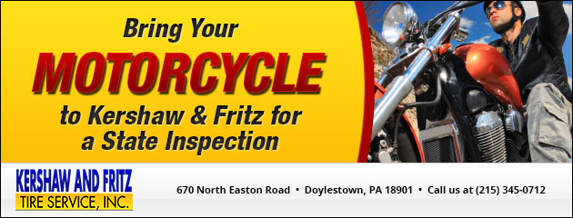 Bring Your Motorcycle to Kershaw & Fritz for a State Inspection