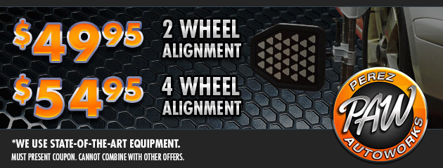 Wheel Alignment Specials