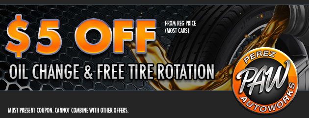 $5 Off Oil Change & Free Tire Rotation