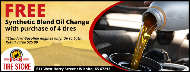 Free Synthetic Blend Oil Change with Tire Purchase