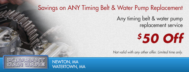 Save $50 on Any Timing Belt and Water Pump Replacement
