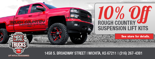 10% Off Rough Country Suspension Lift Kits