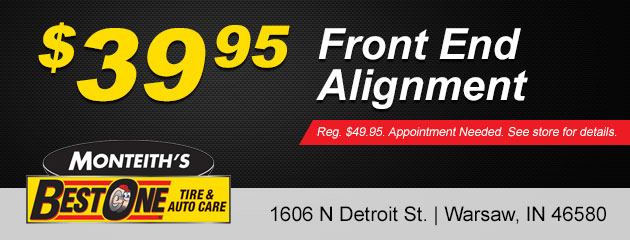 Front End Alignment $39.95