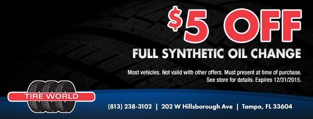 $5 Off Full Synthetic Oil Change