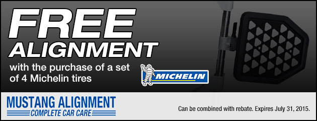 Free Alignment with Michelin Tires