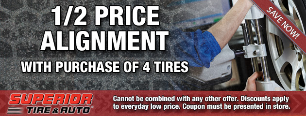 Half Price Alignment with Tire Purchase