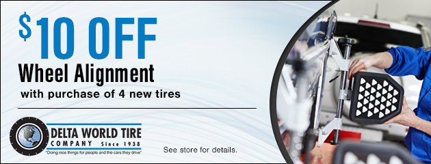 $10 Off Wheel Alignment