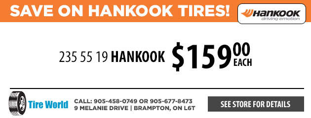 Save on Hankook Tires!