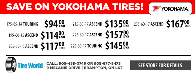 Save on Yokohama Tires!