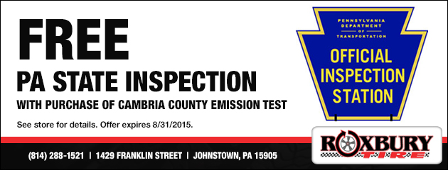 Free PA State Inspection Coupon