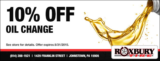 10% Of Oil Change Coupon
