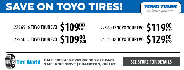 Save on Toyo Tires!