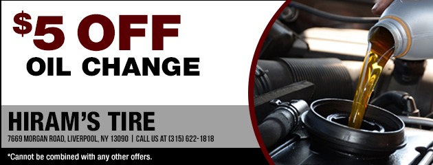 $5.00 Off Oil Change Coupon