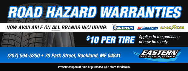Road Hazard Warranties on Select Tire Brands