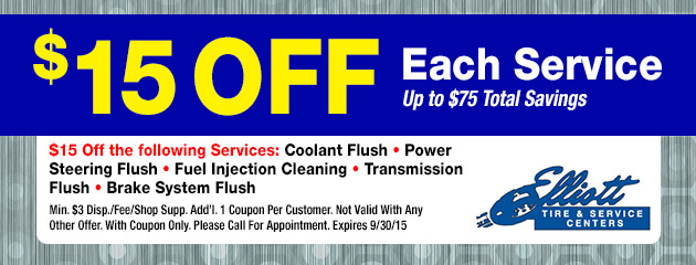 $15 Off Service Coupon