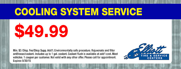 Cooling System Service $49.99 Coupon