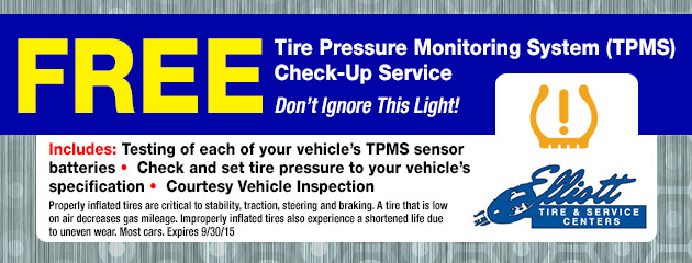 Free TPMS Check Up Service