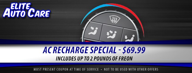 A/C Recharge Special -$69.99