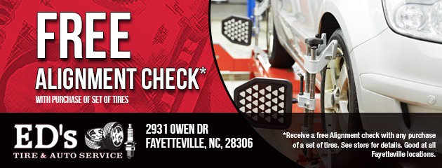 Free Alignment Check with Purchase of Set of Tires