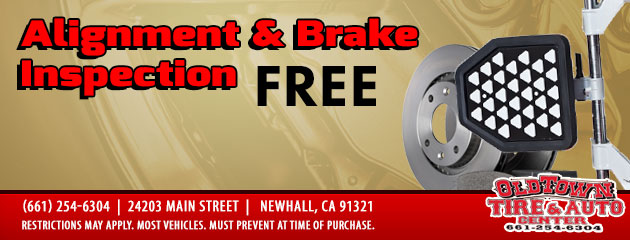 Free Alignment & Brake Inspection Coupon