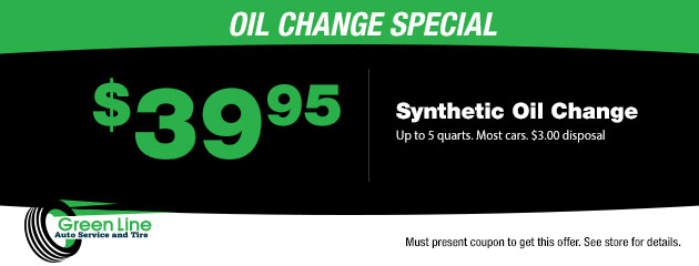 $39.95 Synthetic Oil Change Coupon