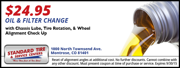 $24.95 Oil and Filter Change Coupon