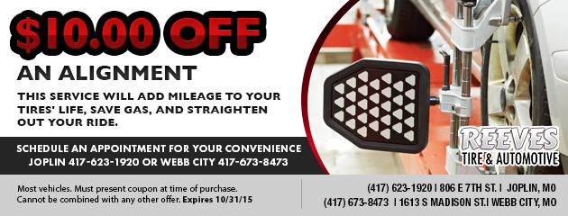 $10 Off Alignment Coupon