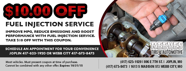 $10 Off Fuel Injection Service Coupon
