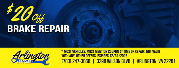 $20 Off Brake Repair Coupon