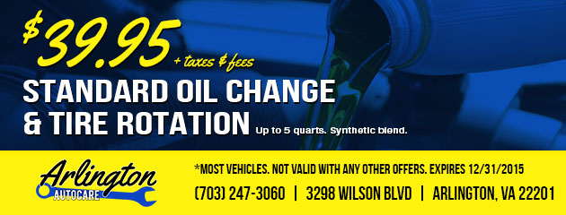 $39.95 Standard Oil Change & Tire Rotation Coupon