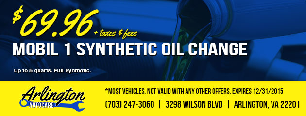 $69.95 Mobil 1 Synthetic Oil Change Coupon