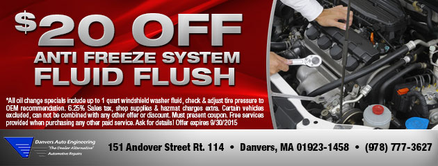 $20 Anti Freeze/Cooling System Flush
