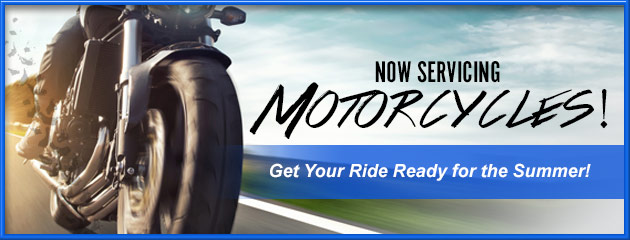 Now Servicing Motorcycles
