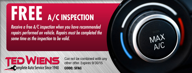 Free A/C Inspection Coupon