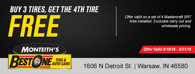 Buy 3 Tires, Get the 4th Free
