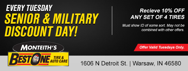 Tuesdays Only - Senior & Military Discount