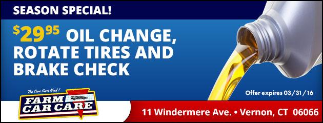 Brake check oil change coupons