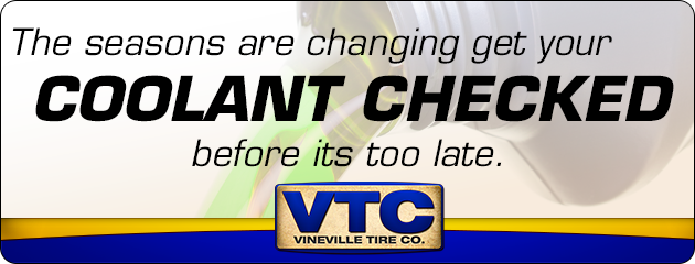 The seasons are changing get your coolant checked before its too late!
